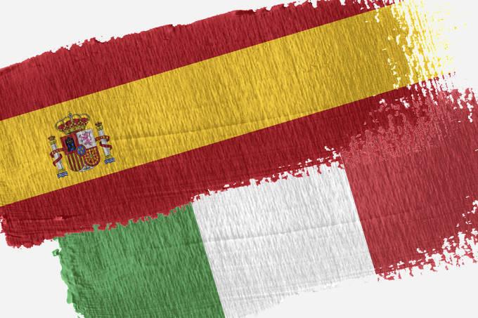 Spaanse Italiaanse vleeswaren